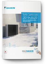 Tarifa calefacción Daikin 2019-2020
